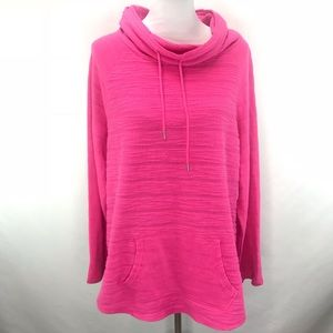 Crown & Ivy Pullover Pink Cowl Neck Sweater XL